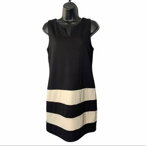 YA Los Angeles Black & White Casual Sheath Dress